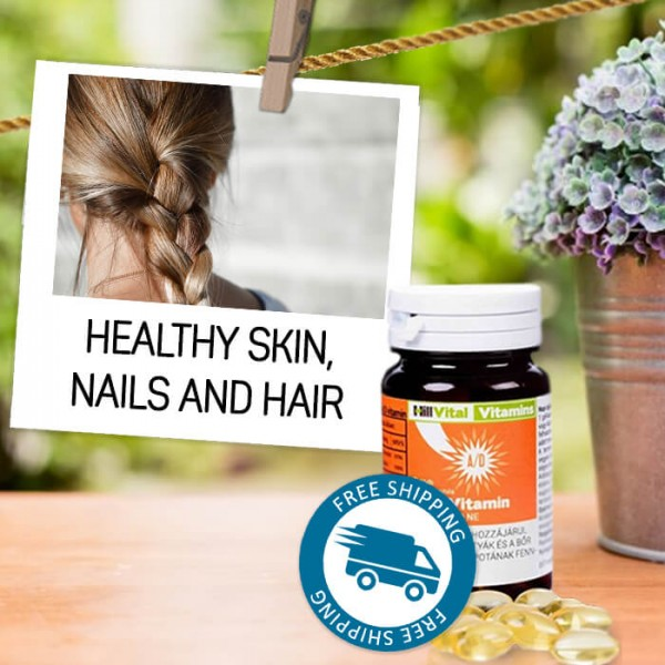 Vitamins A + D for beautiful skin, nails and hair 60 capsules