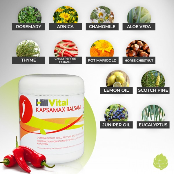 Kapsamax for stiff muscles and tingling