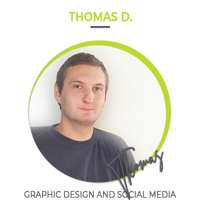 Thomas D. Graphic design and social media | HillVital