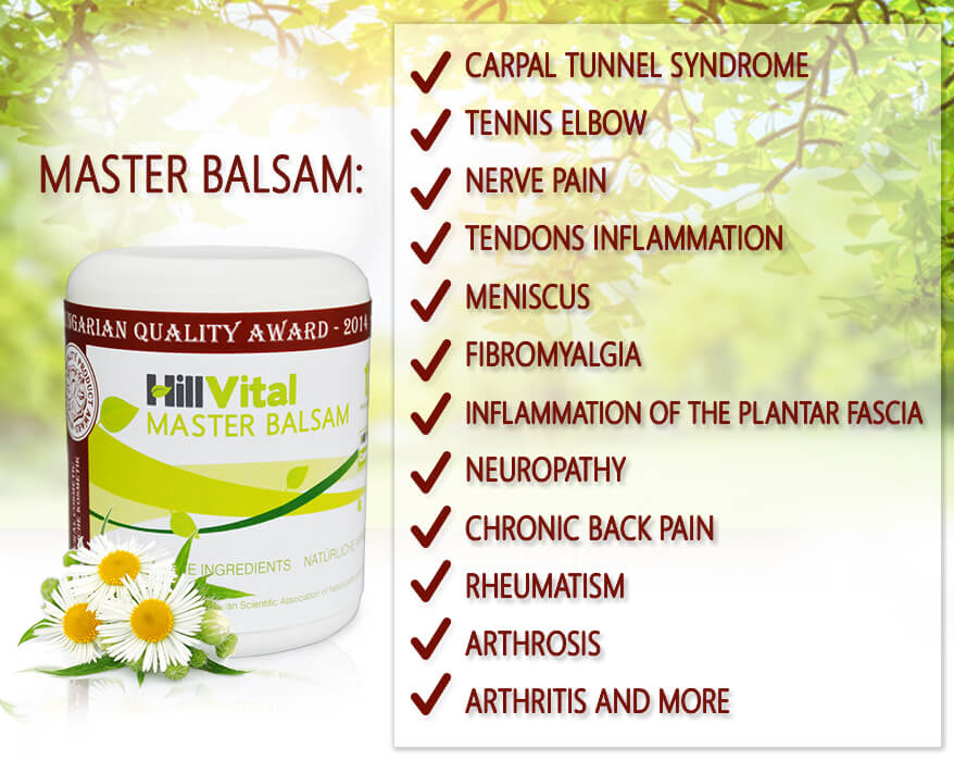 Master - effective cream for arthritis, muscle pain sciatica, lower back pain, meniscus and leg pain | HillVital