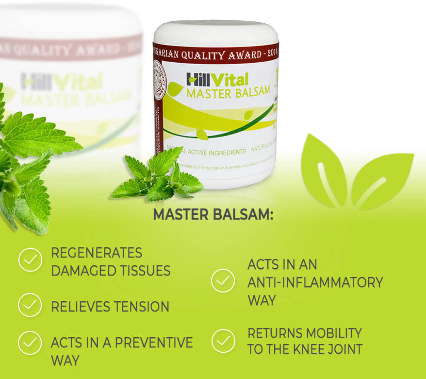 Master balsam - cream for tennis elbow, joint pain, meniscus, knee pain, muscle pain, sciatica | HillVital